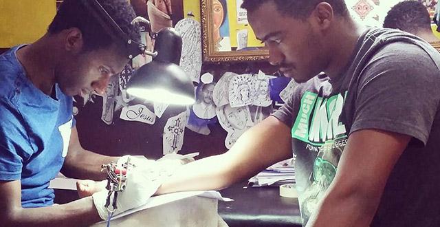 Getting a tattoo in Addis Ababa - Zola Tattoo